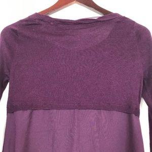 Anthropologie Tops - Anthropologie Yellow Bird Size XS Sweater Purple